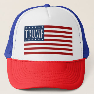 TRUMP FLAG GEAR, MAKE AMERICA GREAT AGAIN. TRUCKER HAT