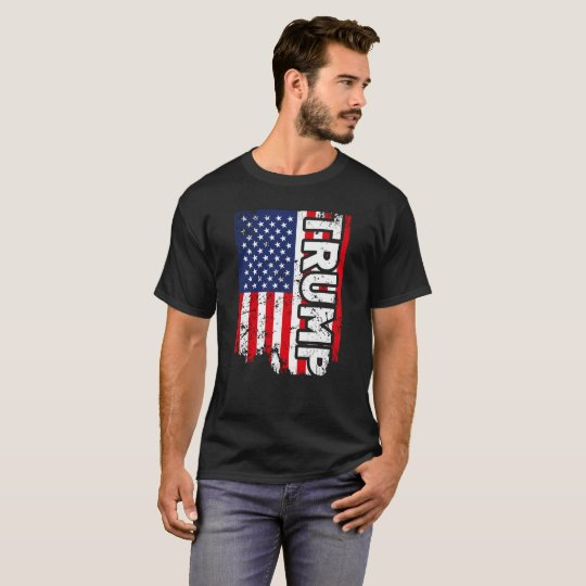 Trump Flag USA T-Shirt American Patriotic Trump