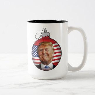 Trump for Christmas Two-Tone Coffee Mug