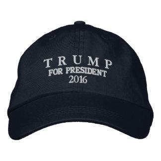 TRUMP FOR PRESIDENT 2016 BASIC ADJUSTABLE EN'S CAP EMBROIDERED HAT