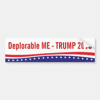 Trump For President 2016 - Deplorable Me Bumper Sticker