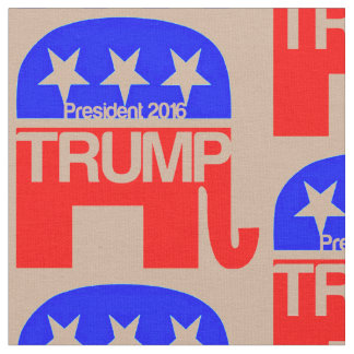 Trump For President 2016 Elephant Fabric