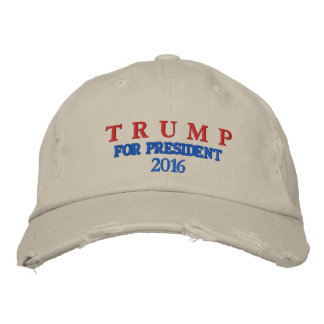 TRUMP FOR PRESIDENT 2016 MEN'S CAP EMBROIDERED HAT