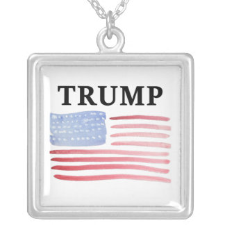 Trump For President 2016 Silver Plated Necklace