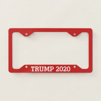 Trump for President 2020 License Plate Frame