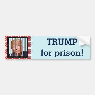 """""""Trump for prison"""" Bumper Sticker"""