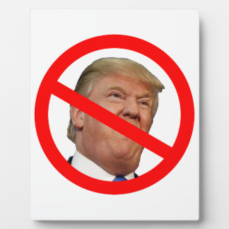 TRUMP FREE:  Make America Trump Free Again! Plaque