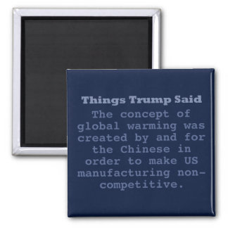 "Trump Global Warming - 2"" Square Magnet"