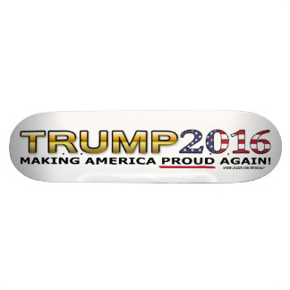 Trump Golden Patriot 2016 skateboard (white)