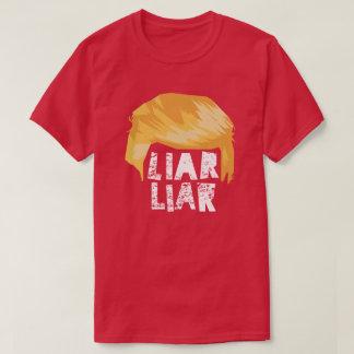 Trump Hair Liar Liar - Blk or Wht Text T-Shirt