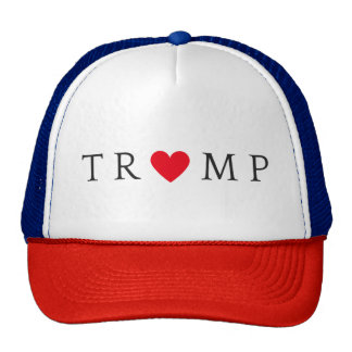 TRUMP heart trucker hat