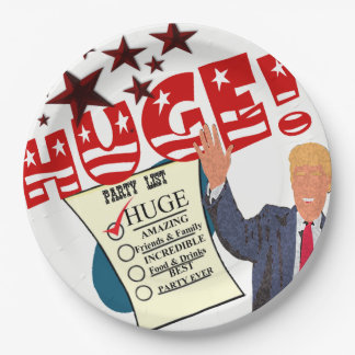 Trump HUGE Party Celebration Dinner Paper Plates 9 Inch Paper Plate