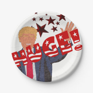 Trump HUGE Party Celebration Luncheon Paper Plates 7 Inch Paper Plate