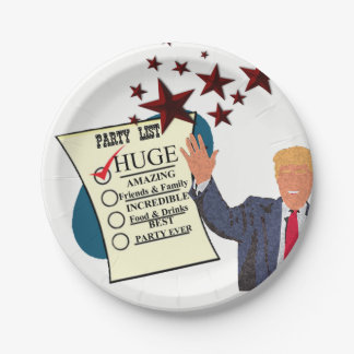 Trump HUGE Party Celebration Paper Plates 7 Inch Paper Plate