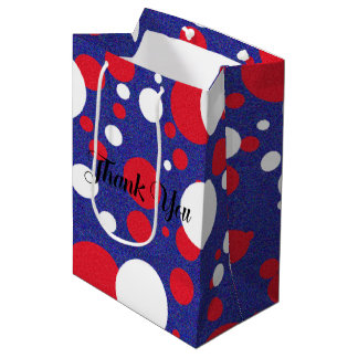 Trump Huge Sparkle Polka Dot Party Bag