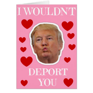 Trump I Wouldn't Deport You Card