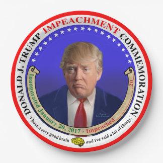 Trump Impeachment Commemorative Paper Plate