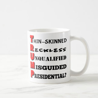 Trump in a Nutshell White Coffee Mug