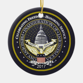 TRUMP Inauguration Ceramic Ornament
