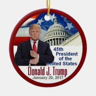 TRUMP Inauguration Round Ceramic Ornament