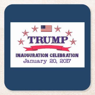 Trump Inauguration Square Paper Coaster
