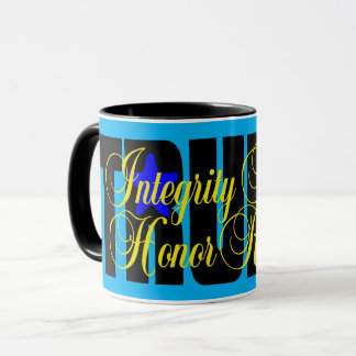 Trump Integrity Honesty Respect Honor! MUG BLUE