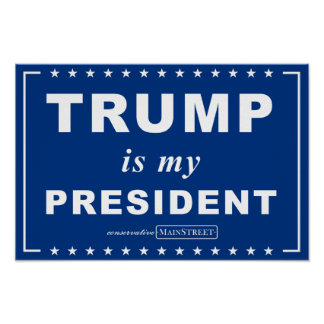 TRUMP is my PRESIDENT (Blue) Poster