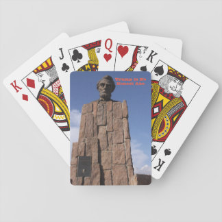 Trump is no Honest Abe Playing Cards