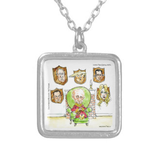 Trump Is Putin On The Ritz Gifts Silver Plated Necklace