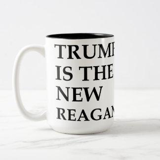 Trump is the new Reagan Two-Tone Coffee Mug