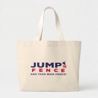 Trump Jump The Fence Jumbo Tote Bag