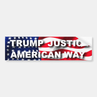 Trump Justice American Way Bumper Sticker