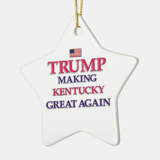 Trump Kentucky Great Again Ceramic Ornament
