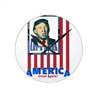 trump love design round clock