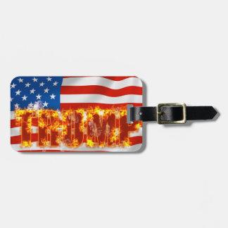 Trump Luggage Tag w/ leather strap