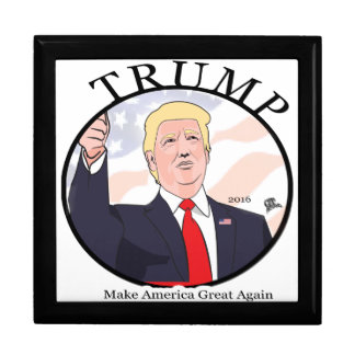 Trump Make America Great Again Black Circle Gift Box