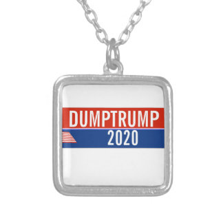 Trump Must Go Silver Plated Necklace