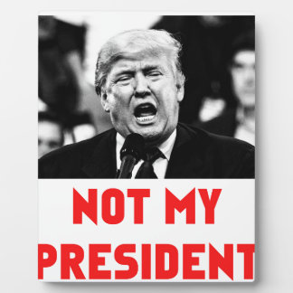 TRUMP NOT MY PRESIDENT PLAQUE