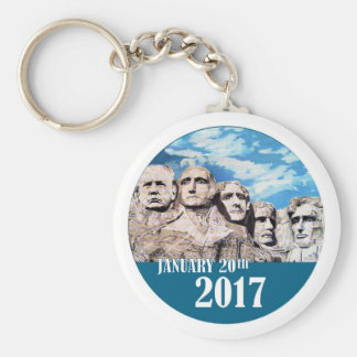 Trump on Mount Rushmore Keychain