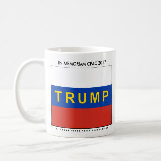 Trump on Russian Flag- TRUMP PENCE PUTIN@CPAC 2017 Coffee Mug