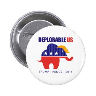 Trump Pence 2016 Elephant Toupee Campaign Button