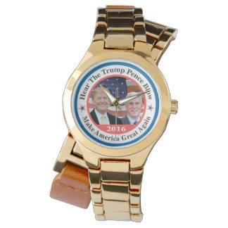 trump pence 2 wrist watches