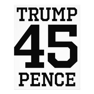 Trump Pence 45 Letterhead