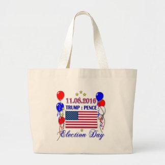 Trump Pence Election 2016 Jumbo Tote Bag