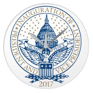 Trump Pence President Inaugural Logo Inauguration Large Clock