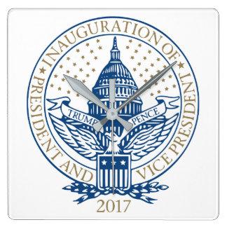 Trump Pence President Inaugural Logo Inauguration Square Wall Clock