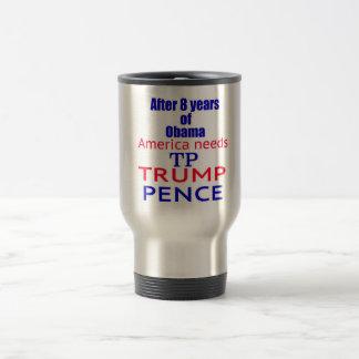 Trump Pence TP Time 2 Travel Mug