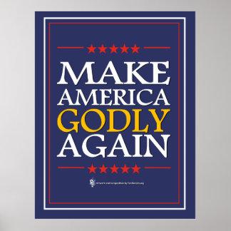 Trump - Poster: Make America Godly Again Poster