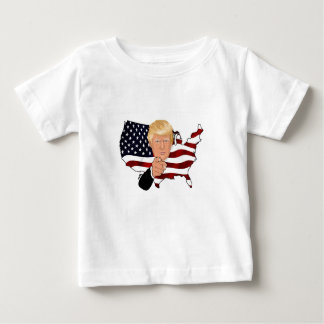 Trump President Uncle Sam Usa America Flag Baby T-Shirt