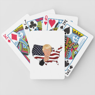 Trump President Uncle Sam Usa America Flag Bicycle Playing Cards